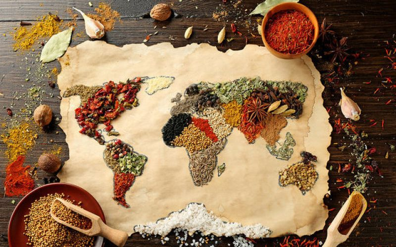 Japan, Mexico and India in your dish!
